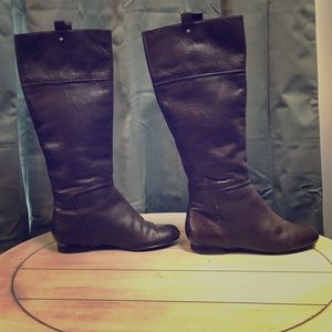 Brown Leather Riding Style Boot size 5.5 Bakers